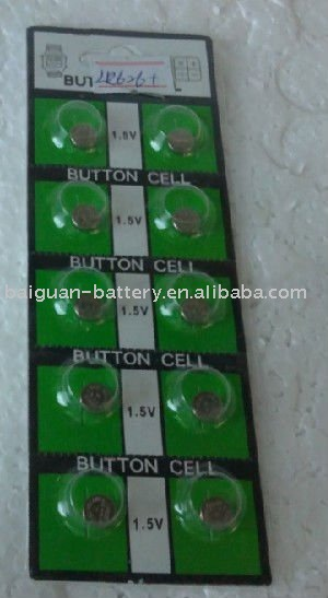 1.5V LR621/AG1 watch battery by blister card