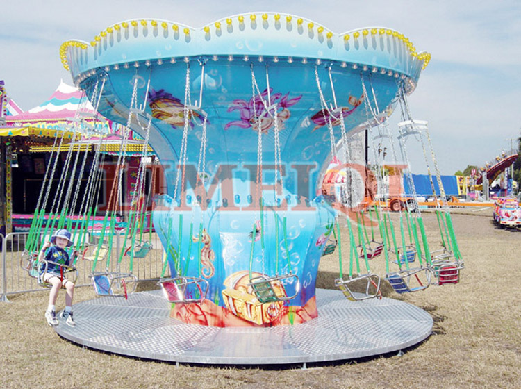 Amusement park attractions rides kiddie flying chair