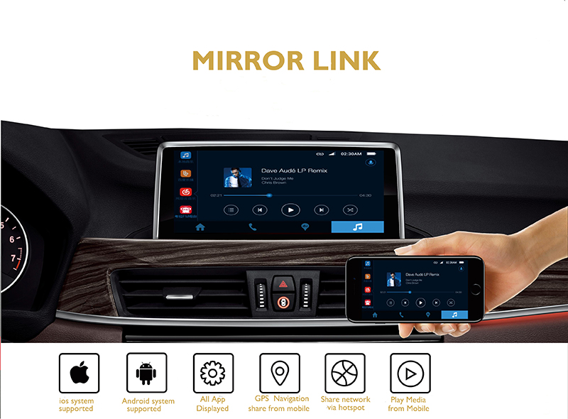 Bosstar car multimedia system with Bluetooth android  audio stereo for  BMWs mini 2016 coopers with plug and play