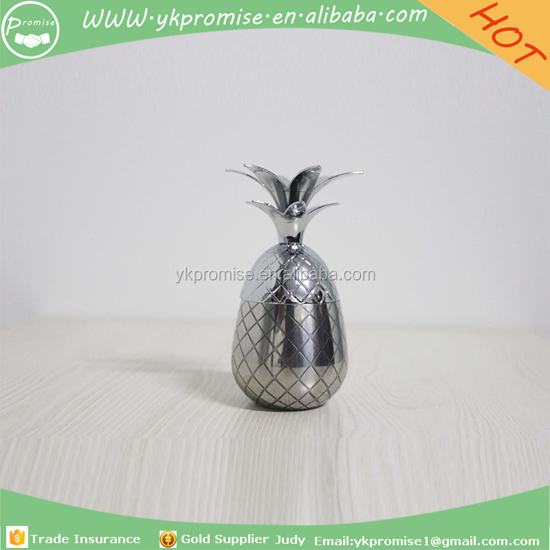 Cute size pineapple tumbler stainless steel 100ml silver, Creative Mug Beer Whiskey Cup