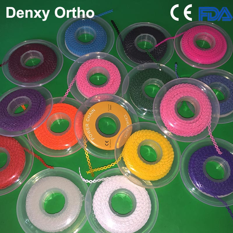 Best Quality China Dental Supplies Denxy Dental Elastic Chain orthodontic power chain
