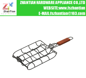 4-piece Barbeque Corn Grilling Basket with Handle