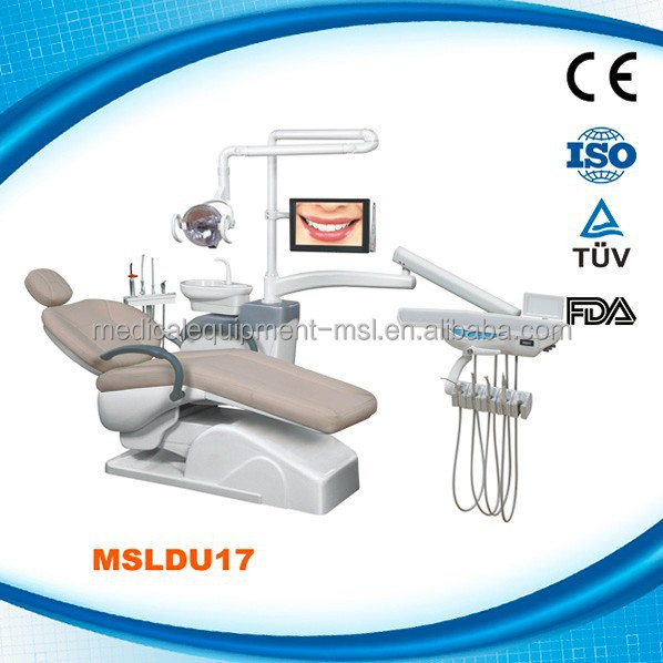 MSLDU17K best top mounted dental unit, european style dental chair unit, Italy style dental chair factory Guangzhou