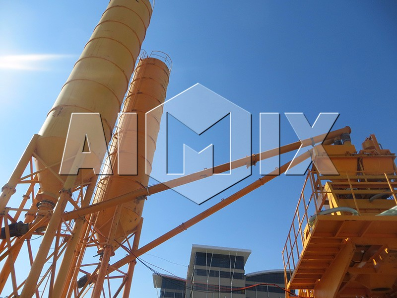 High quality mobile concrete mixing plant in China
