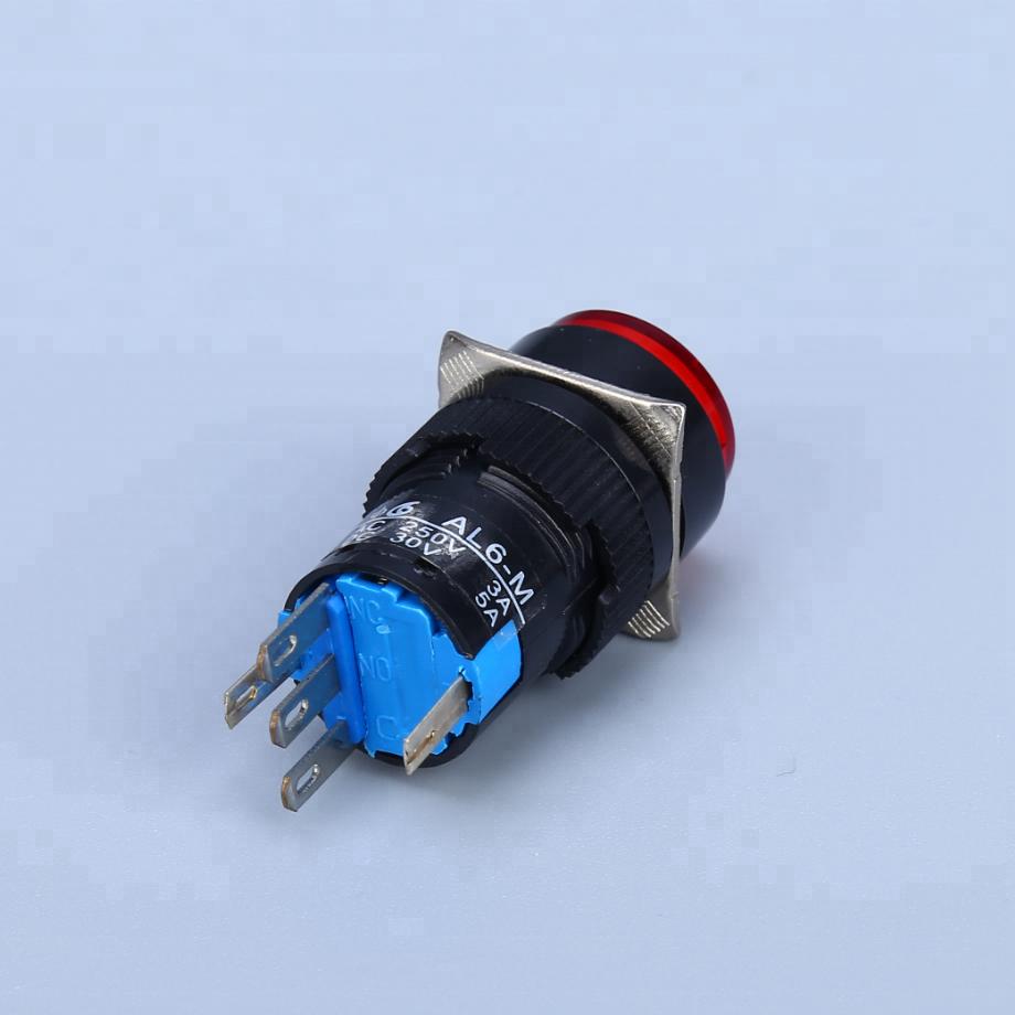 PushButton Switch w// LED Indicator **Green** Momentary type M16