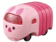 Takaratomy Tomica Motors Tsum MIni Car Figure,Piglet/Oswald