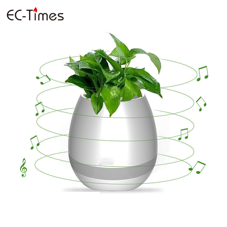 Indoor mini bluetooth speaker music flower pot vase for office