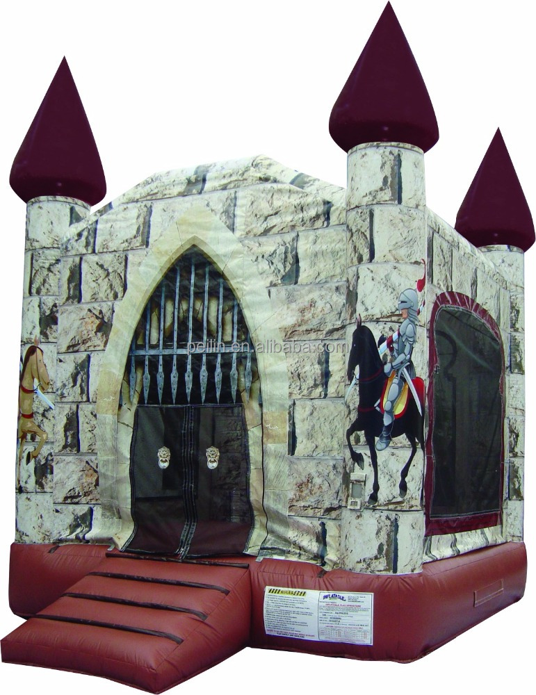 New design inflatable knight bounce house for kids liking act as prince or princess