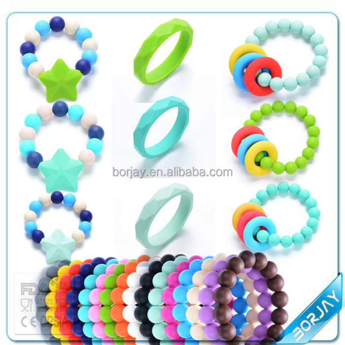 Silicon Baby Teething Bracelet Shower Gift New Mom