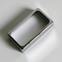 Open style nickle silver humbucker pickup cover