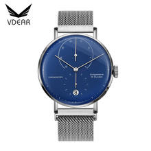 China factory made luxury classic watches men luxury brand automatic mechanical with mesh band