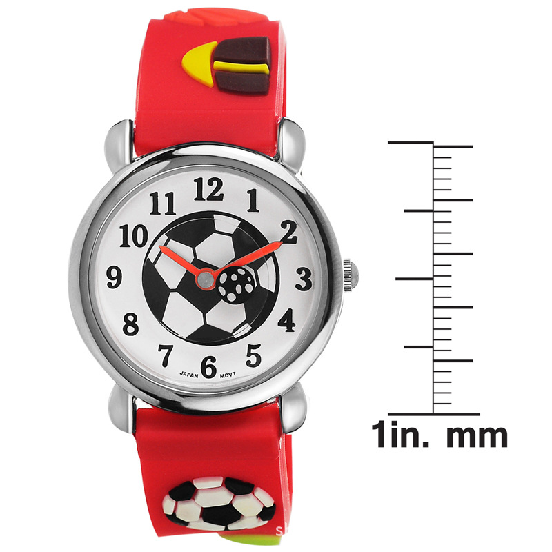 Cartoon silicone slap watch 3D animal watch strap for kids