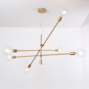 Chinese Wholer Modern Ceiling Lights Fixtures Hanging Lamps Dubai Decorative Gold Chandelier Pendant Light
