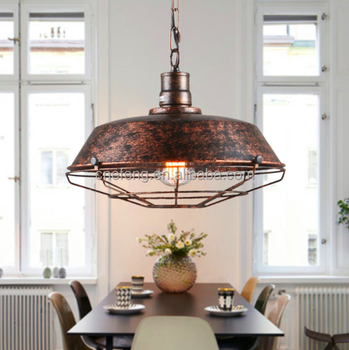 Industry Metal Iron Ancient Chandelier Pendant Lamp Rustic Lights