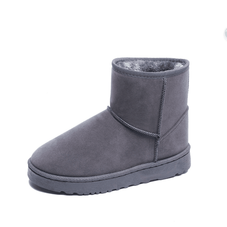 Mid calf sheepskin fur women snow boos winter warm <strong>boots</strong>