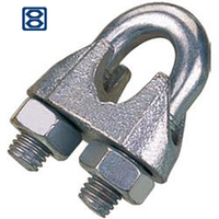 China supplier stainless steel DIN 741 cable clamps Wire Rope Clip