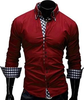 f0afdd7dd2 Descuento walson ONEN extra gris de manga larga de los hombres camisa traje  de latexst estilo