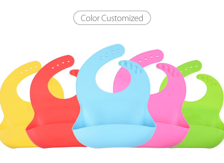 YTBagmart Disposable Custom Waterproof  Baby Silicone Bib for Restaurant baby silicone bib