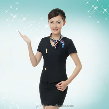 2015 hot sale hotel receptionist uniforms made in china for Spa uniform alibaba