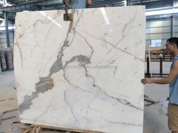 High End Imported Calatata Gold Marble Slab Flooring Design White Vein