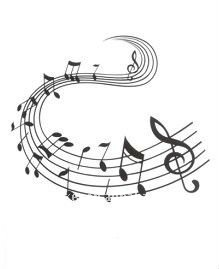 Music notes temporary fancy tattoo stickers