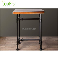 Industrial Pipe Antique Tea Table Leisure Square Tea and Coffee Table