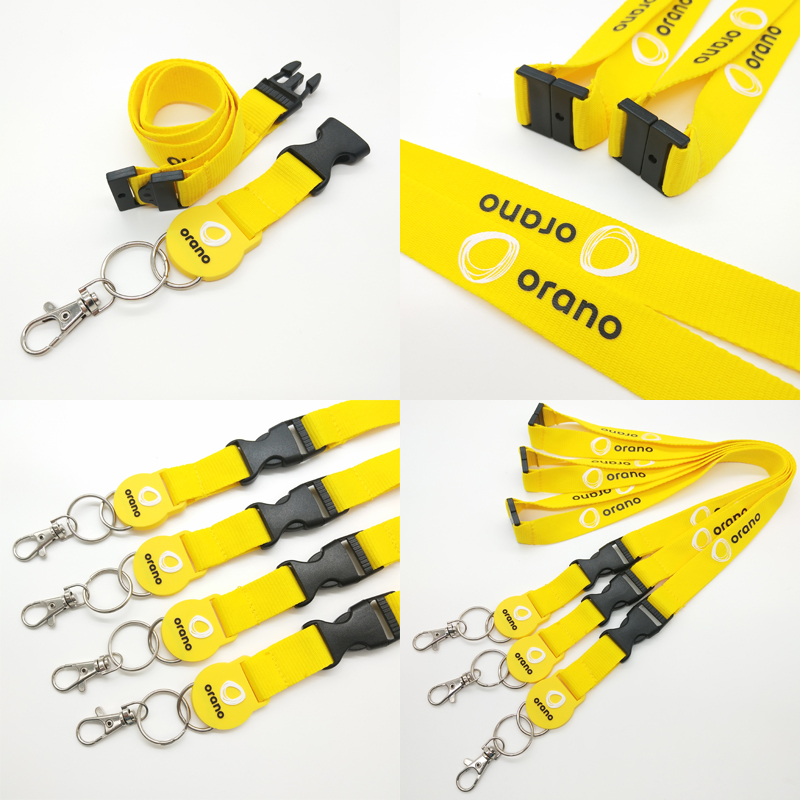 Promotional Customized Lanyard Printing Keys Lanyard Woven Wristband for Sale