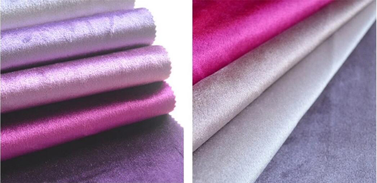 Solid color 100 polyester velvet fabric window drapes custom curtain