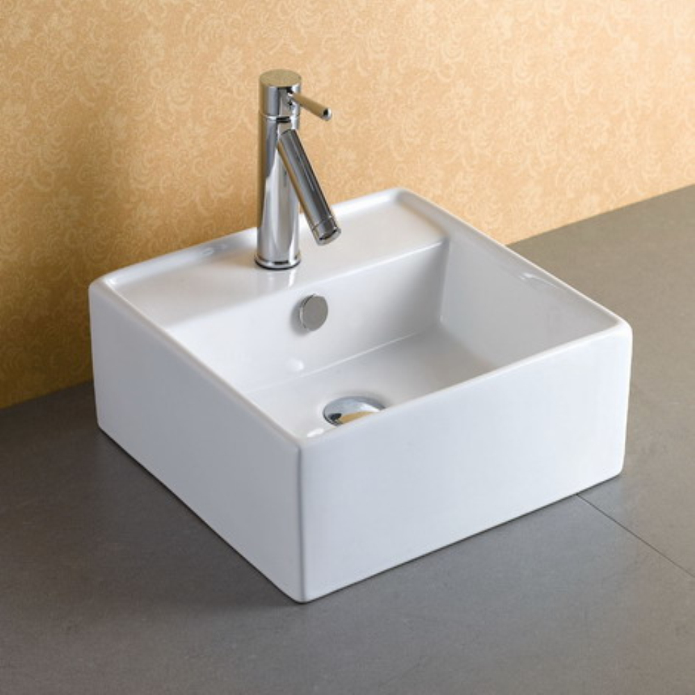 AAA Grade Bathroom Counter Top Mounted Wash Sink with Faucet Hole