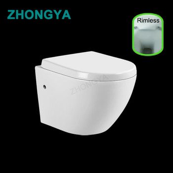 India Wall Hung Toilet Commode Rimless Cheap Wc Price ...