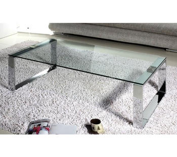 Modern Furniture Homes Goods Coffee Table Design Glass Tea Table Stainless  Steel Tempered Glass Sofa Center