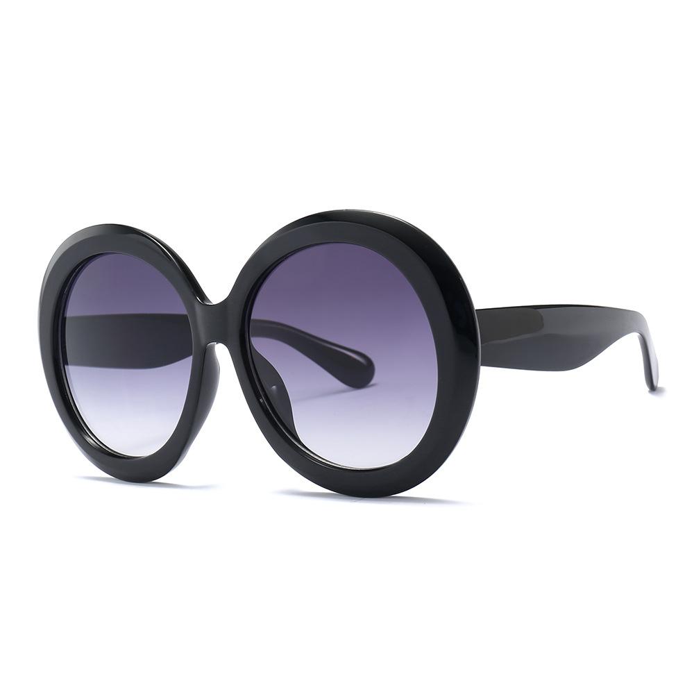GUVIVI CE&FDA Big black Plastic Sunglasses yiwu Women Ovrsized Round Own brand sunglasses фото