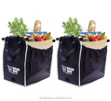 Insulated Reusable Eco Supermarket Grocery Shopping Tote Grab Bag
