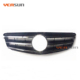 Glossy black C63 AMG type car front bumper racing grille mesh grills radiator grill for Mercedes Benz W204 AMG
