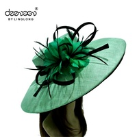 Lady Sinamay Church Hat Wholesale Women Straw Hat for Sale
