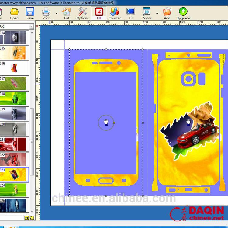 Daqin Mobile Phone Skin Sticker Vinyl Cutter Plotter Software Buy Vinyl Cutter Plotter Software Free Sticker Cutting Software Sticker Cutting Software Product On Alibaba Com