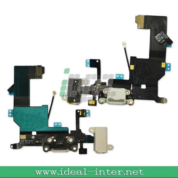 For IPhone 5 Dock Connector Charging Port&Audio Jack Flex Cable for iPhone 5