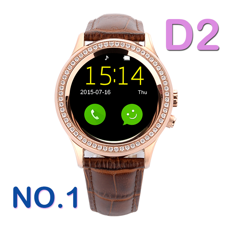 Vintage No 1 D2 Bluetooth 4 0 Women Diamond Smart Watch for iPhone Samsung  Android ios 05245faf3f