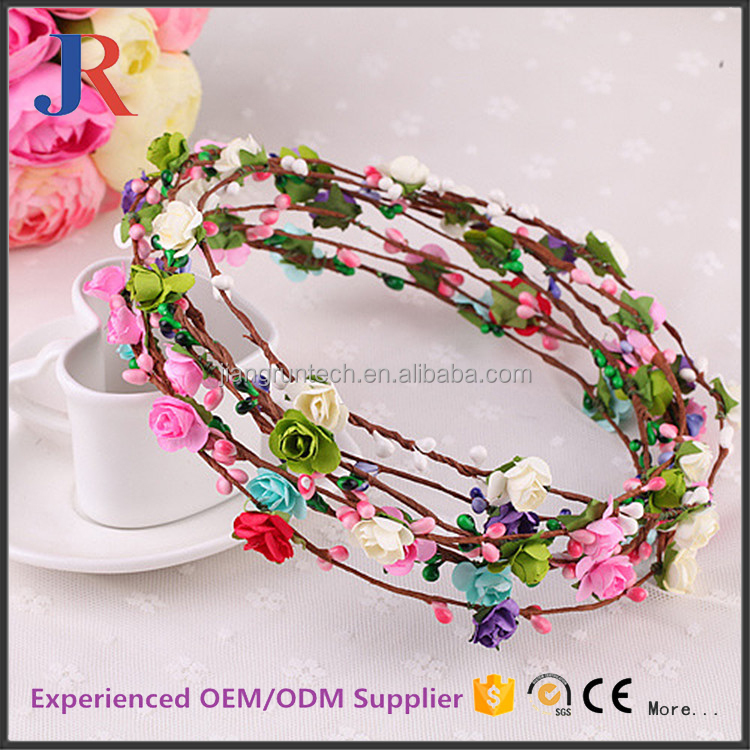 Best selling lovely decoraticve artificial indian rose flower paper garland
