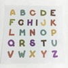 Wholesale Colorful English Number Letter Alphabet Paper Sheet Adhesive Stickers printing