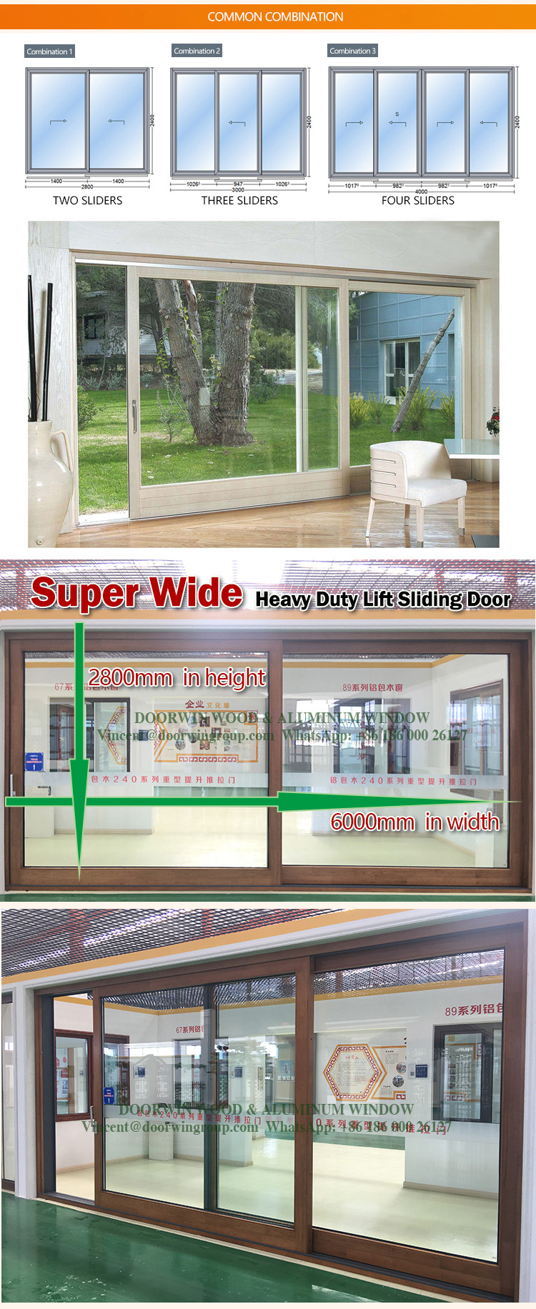 2017 Alibaba China Hot Selling Sliding Glass Door With Built In Blind : interblind door - Pezcame.Com