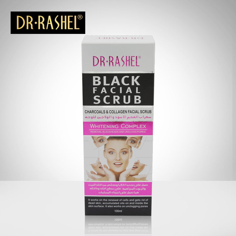 DR.RASHEL Face Whitening Skin care Exfoliating remove blackhead facial Scrub 100ml