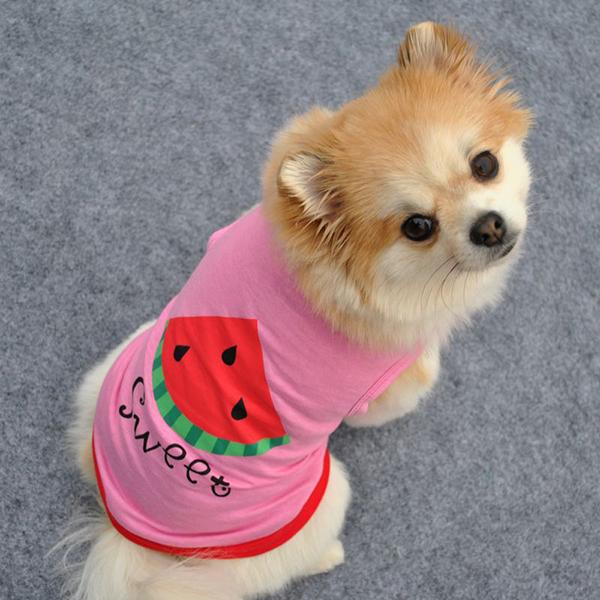 Домашнее животное собака лето воздухопроницаемый футболки жилет щенок бикини цветок принт контейнер одежда для собака