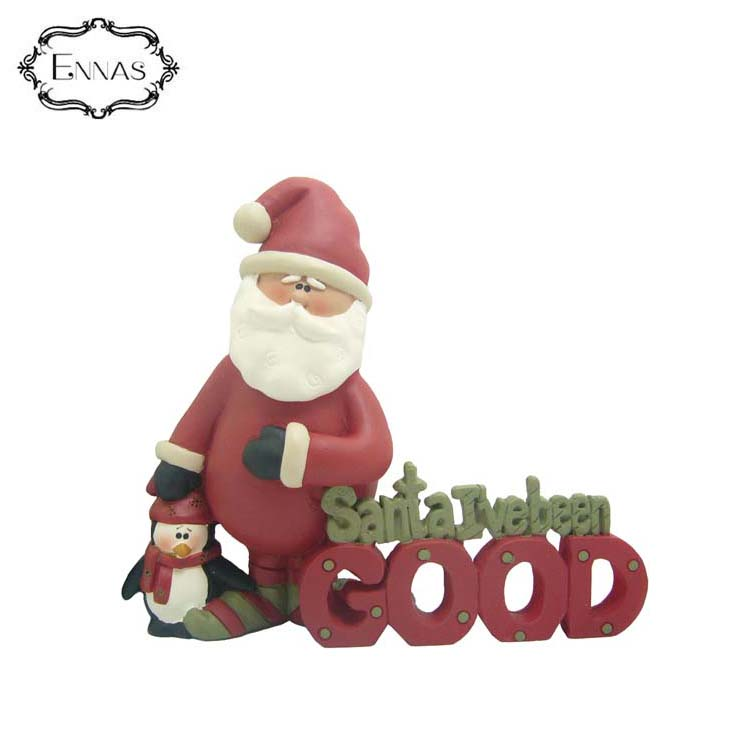 2020 i've been good' santa penguin figurine carefully designed christmas decorations