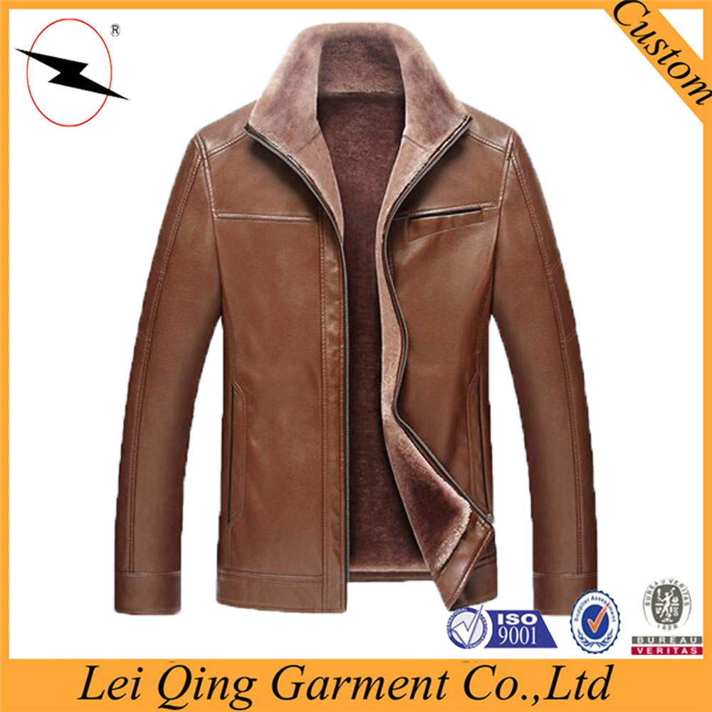 New model wholesale warm men jacket clothing coat fashion leather man coat