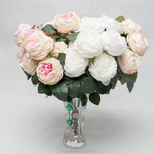 Satin Ribbon Roses Flower Wall Back drop Artificial Rose Balls for Wedding Decoration