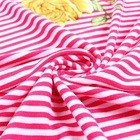 New arrivals polyester stripe spandex brushed tricot fabric for dresses