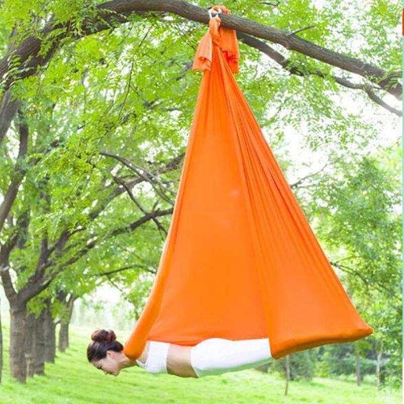 Prior Fitness 2019 High Strength 5x2.8m Aerial Inversion Yoga Swing Nylon Low Stretch Yoga Hammock-100% Quality Guarantee! фото