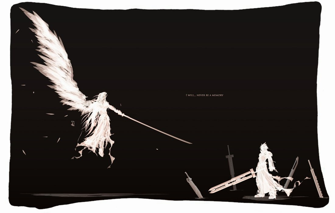 Microfiber Peach Standard Soft And Silky Decorative Pillow Case (20 * 26 Inch) - Nature Clouds Final Fantasy Video Games Clouds Sephiroth Nature Clouds