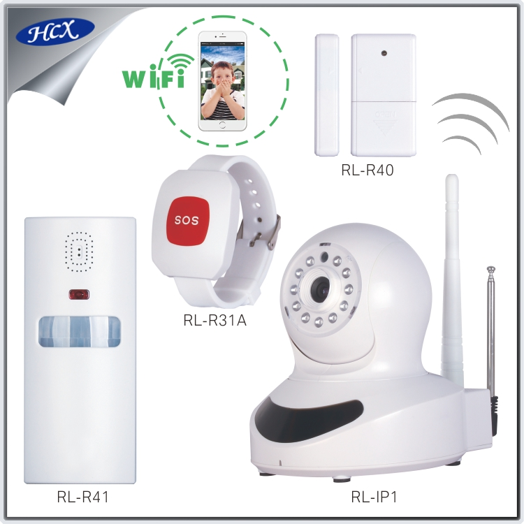 RL-IPCA01 IP camera security alarm system wireless wifi via mobile phone